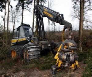 Holzvollernter-Harvester