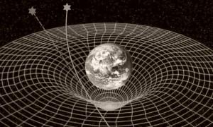 Raumkrümmung-Stern-Licht